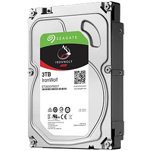 NAS-Festplatte, 3 TB, Seagate IronWolf SEAGATE ST3000VN007