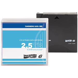Tandberg LTO-Ultrium 6 Cartridge, 2500/6250GB TANDBERG 434021