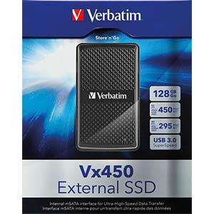 Verbatim Vx450 ext. SSD USB3.0 128GB VERBATIM 47680
