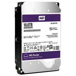 10TB Festplatte WD Purple - Video WESTERN DIGITAL WD100PURZ