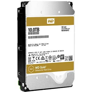 WD Gold 3.5-inch data centre HDD with 10 TB capacity WESTERN DIGITAL WD101KRYZ