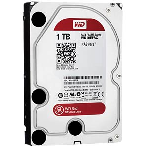 Desktop hard drive, 1 TB, WD Red WESTERN DIGITAL WD10EFRX