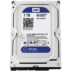 "WD Blue 3.5"" PC hard drive with 1 TB WESTERN DIGITAL WD10EZRZ"