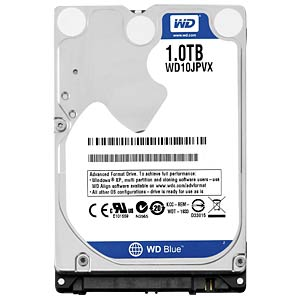 Notebook-Festplatte, 1 TB, WD Blue WESTERN DIGITAL WD10JPVX