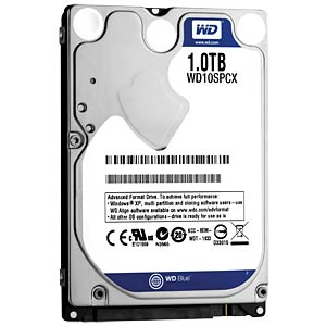 Notebook-Festplatte, 1 TB, WD Blue WESTERN DIGITAL WD10SPCX