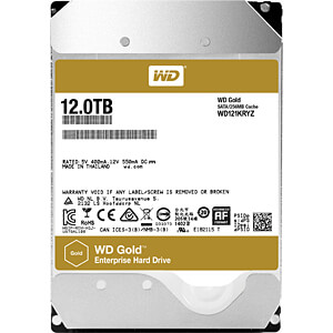 WD Gold Datacenter 12-TB hard disk WESTERN DIGITAL WD121KRYZ