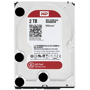 Desktop hard drive, 2 TB, WD Red OEM WESTERN DIGITAL WD20EFRX OEM