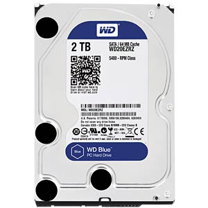 WD Blue 3.5 PC hard drive with 2 TB WESTERN DIGITAL WD20EZRZ