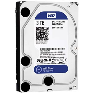 "WD Blue 3.5"" PC hard drive with 3 TB WESTERN DIGITAL WD30EZRZ"