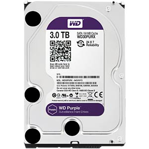 WD Purple 3,5-Zoll-Video-Festplatte mit 3 TB WESTERN DIGITAL WD30PURX