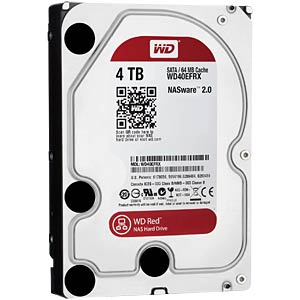 Disque dur NAS WD Red 3,5 pouces, 4 To WESTERN DIGITAL WD40EFRX