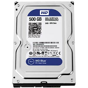 "WD Blue 3.5"" PC hard drive with 500 GB WESTERN DIGITAL WD5000AZRZ"