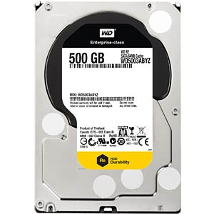 Desktop hard drive, 500 GB, WD Re WESTERN DIGITAL WD5003ABYZ