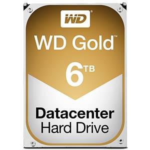 WD Gold 3,5-Zoll-Datacenter HDD mit 6 TB WESTERN DIGITAL WD6002FRYZ