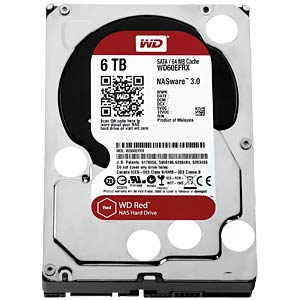 Desktop hard drive, 6 TB, WD Red OEM WESTERN DIGITAL WD60EFRX OEM