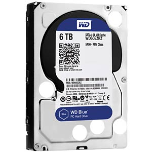 "WD Blue 3.5"" PC hard drive with 6 TB WESTERN DIGITAL WD60EZRZ"