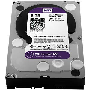 WD Purple NV 3,5-Zoll-Video-Festplatte mit 6 TB WESTERN DIGITAL WD6NPURX
