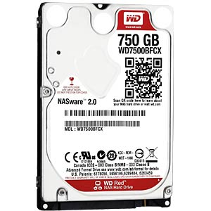 2,5 HDD 750GB WD Red - NAS WESTERN DIGITAL WD7500BFCX