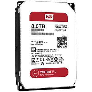 Desktop hard disk, 8 TB, WD Red Pro WESTERN DIGITAL WD8001FFWX