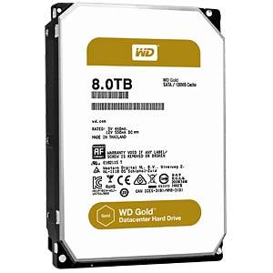 WD Gold 3,5-Zoll-Datacenter HDD mit 8 TB WESTERN DIGITAL WD8002FRYZ