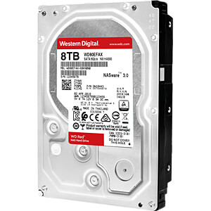 8TB Festplatte WD RED - NAS WESTERN DIGITAL WD80EFAX