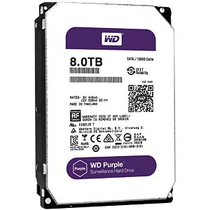 Desktop hard drive, 8 TB, WD Purple WESTERN DIGITAL WD80PUZX