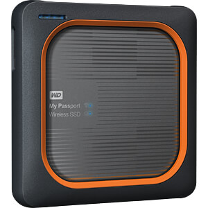 WD My Passport Wireless SSD 1TB, USB 3.0 WESTERN DIGITAL WDBAMJ0010BGY-EESN