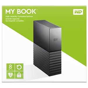 WD My Book 8TB, USB 3.0 WESTERN DIGITAL WDBBGB0080HBK-EESN