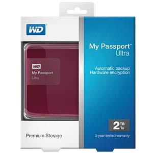 WD My Passport Ultra 2 TB red WESTERN DIGITAL WDBBKD0020BBY