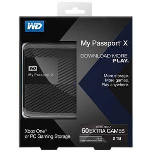 WD My Passport X 2 TB, USB 3.0 WESTERN DIGITAL WDBCRM0020BBK