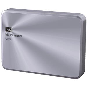 WD My Passport Ultra Metal Edition 2 TB silber WESTERN DIGITAL WDBEZW0020BSL-EESN