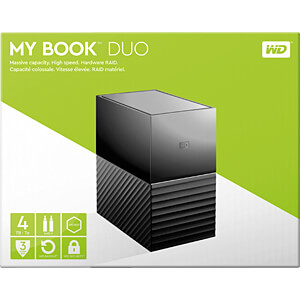 4TB WD My Book Duo USB-C WESTERN DIGITAL WDBFBE0040JBK-EESN