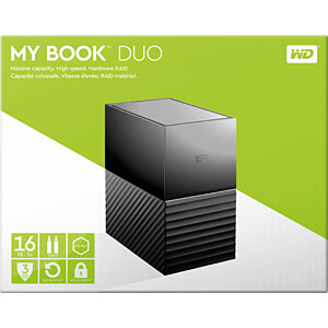 16TB WD My Book Duo USB-C WESTERN DIGITAL WDBFBE0160JBK-EESN