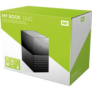 20TB WD My Book Duo USB-C WESTERN DIGITAL WDBFBE0200JBK-EESN