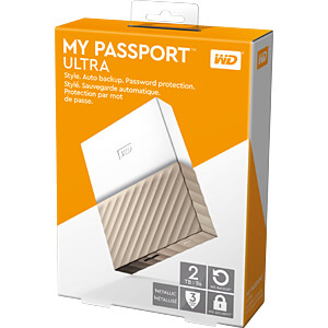 WD My Passport Ultra 2TB weiß WESTERN DIGITAL WDBFKT0020BGD-WESN