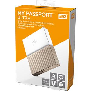 WD My Passport Ultra 4TB weiß WESTERN DIGITAL WDBFKT0040BGD-WESN