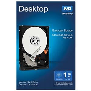Desktop-Festplatte, 1 TB, WD Desktop Retail WESTERN DIGITAL WDBH2D0010HNC-ERSN