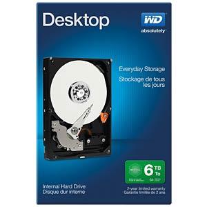 Desktop-Festplatte, 6 TB, WD Desktop Retail WESTERN DIGITAL WDBH2D0060HNC-ERSN
