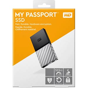 WD USB SSD My Passport SSD 512GB WESTERN DIGITAL WDBK3E5120PSL