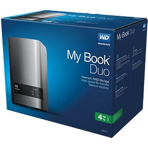 ext. HDD WD My Book Duo 4TB WESTERN DIGITAL WDBLWE0040JCH