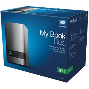 ext. HDD WD My Book Duo 6TB WESTERN DIGITAL WDBLWE0060JCH