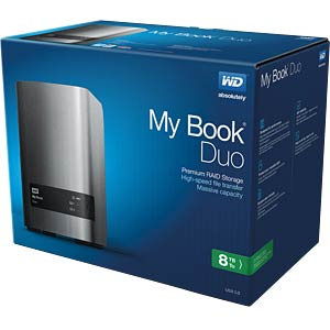 External HDD WD My Book Duo 8 TB WESTERN DIGITAL WDBLWE0080JCH