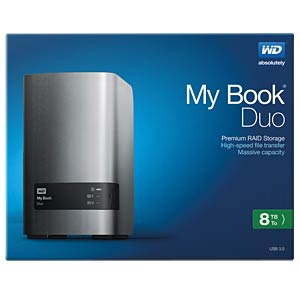 ext. HDD WD My Book Duo 8TB WESTERN DIGITAL WDBLWE0080JCH