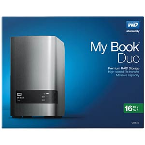 ext. HDD WD My Book Duo 16TB WESTERN DIGITAL WDBLWE0160JCH-EESN