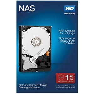 Desktop-Festplatte, 1 TB, WD NAS Retail WESTERN DIGITAL WDBMMA0010HNC-ERSN