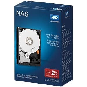 Desktop-Festplatte, 2 TB, WD NAS Retail WESTERN DIGITAL WDBMMA0020HNC-ERSN