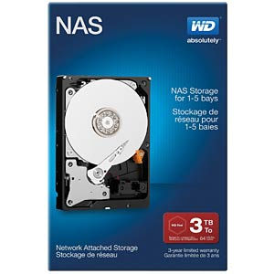 Desktop-Festplatte, 3 TB, WD NAS Retail WESTERN DIGITAL WDBMMA0030HNC-ERSN