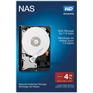 Desktop-Festplatte, 4 TB, WD NAS Retail WESTERN DIGITAL WDBMMA0040HNC-ERSN