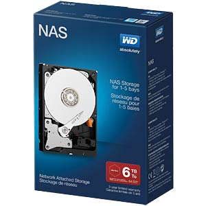 Desktop-Festplatte, 6 TB, WD NAS Retail WESTERN DIGITAL WDBMMA0060HNC-ERSN