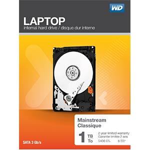Notebook-Festplatte, 1 TB, WD Mainstream WESTERN DIGITAL WDBMYH0010BNC-ERSN